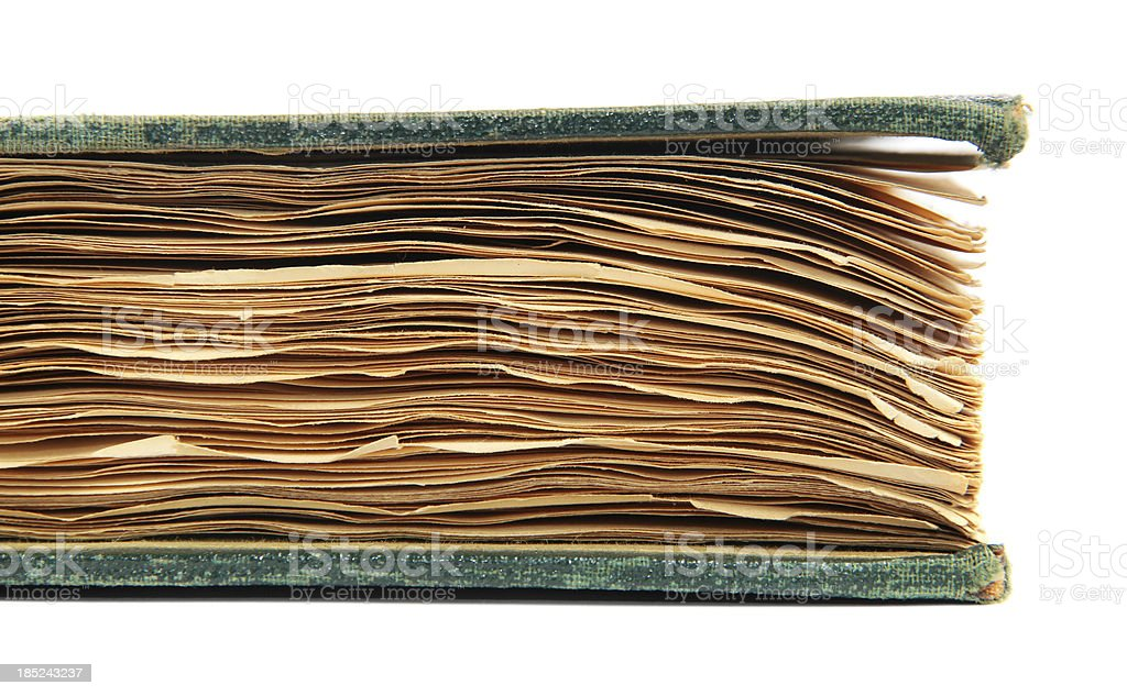 Riffled Pages of Antique Book royalty-free stock photo