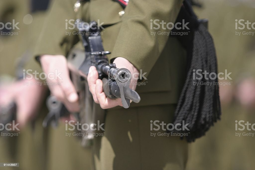 Rifle barrel royalty-free stock photo