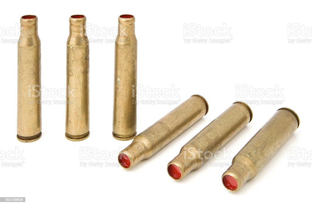 Rifle Blank Shells royalty-free stock photo