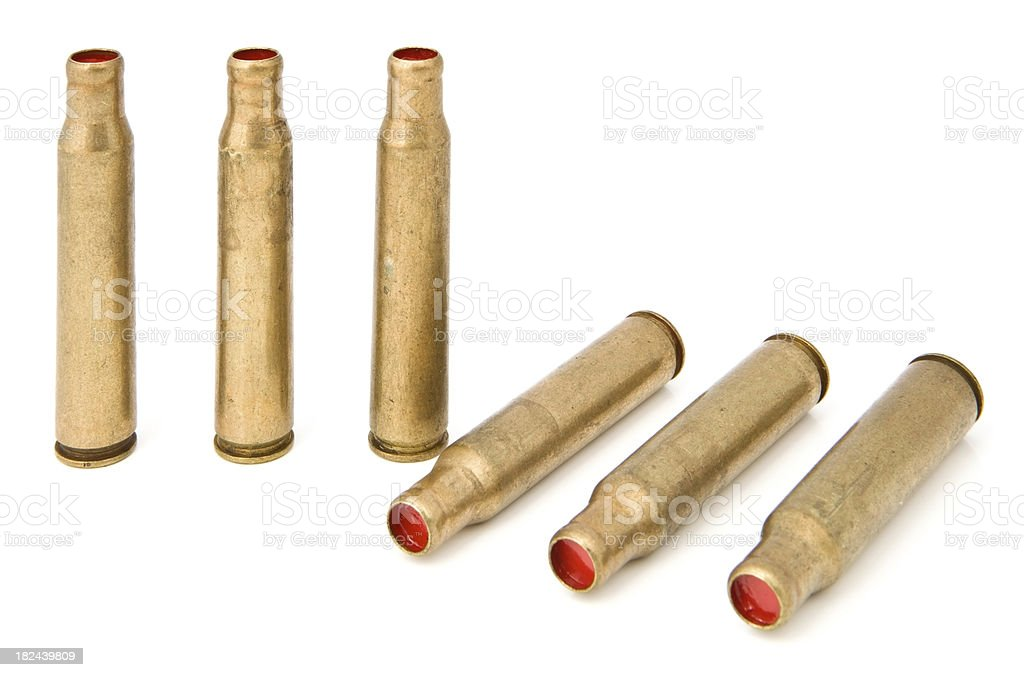 Rifle Blank Shells stock photo