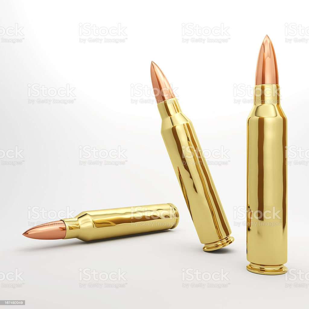 Rifle Bullets royalty-free stock photo