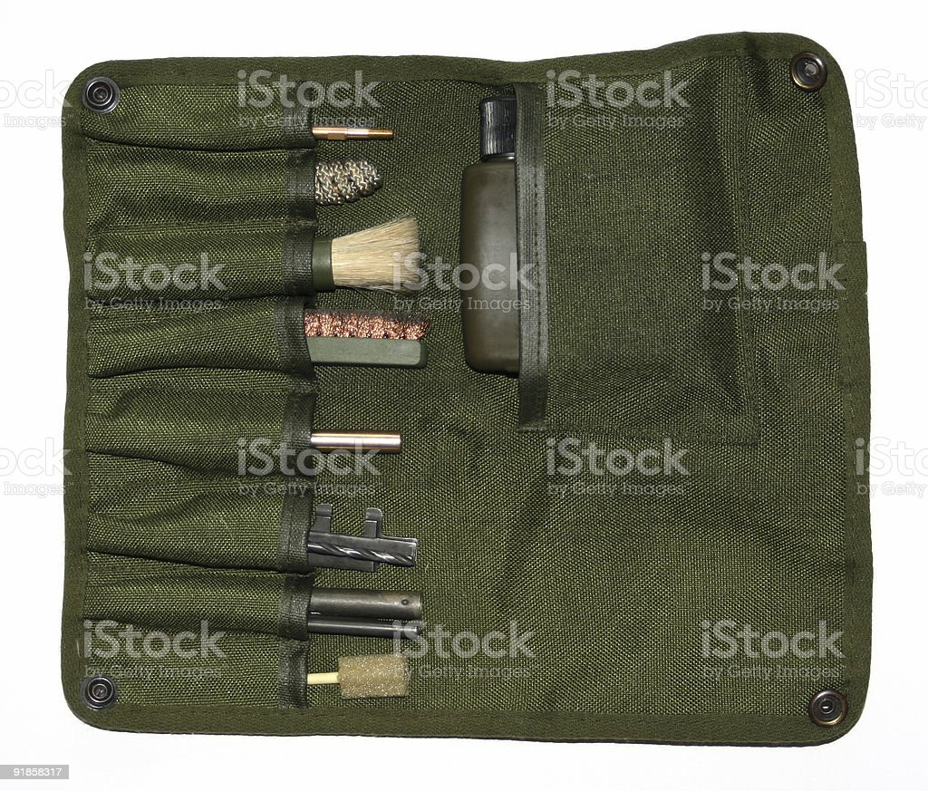 Rifle Cleaning Kit royalty-free stock photo