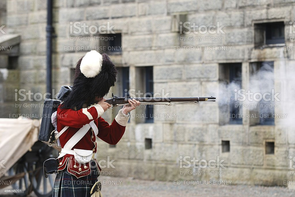 Rifle Demonstration royalty-free stock photo