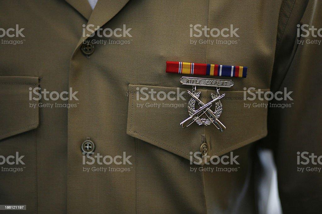 Rifle Expert Badge royalty-free stock photo