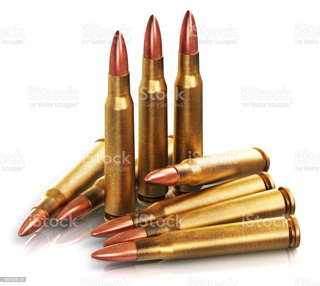 Rifle gun bullets stock photo