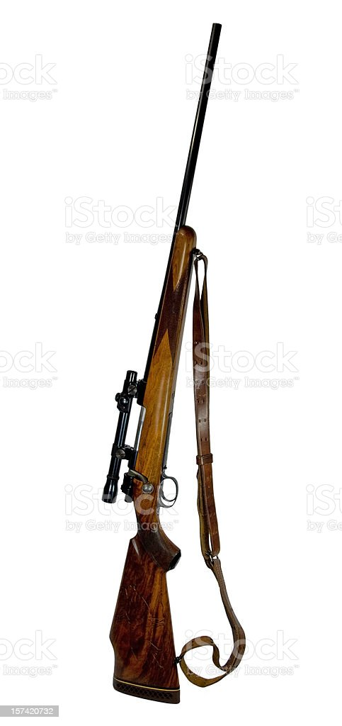 Rifle... Husquavarna .270 with Sling stock photo
