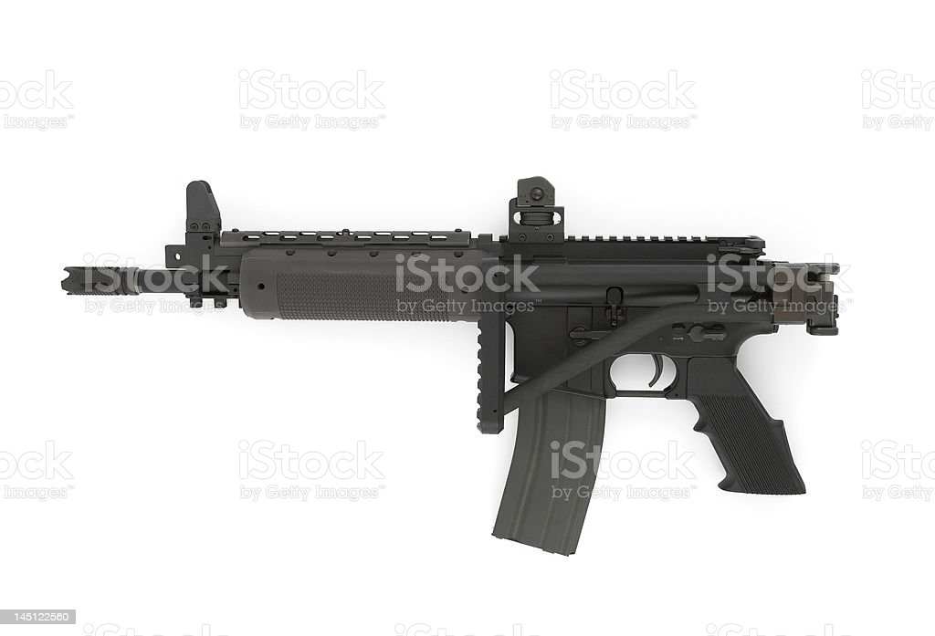 Rifle on the white background stock photo