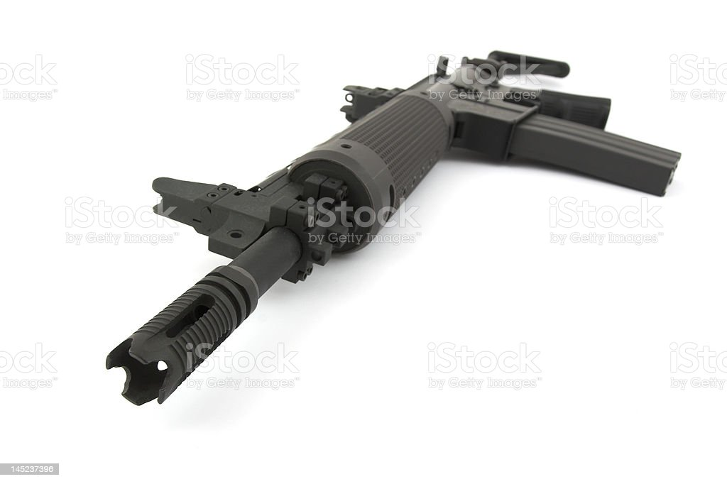 Rifle on the white background royalty-free stock photo