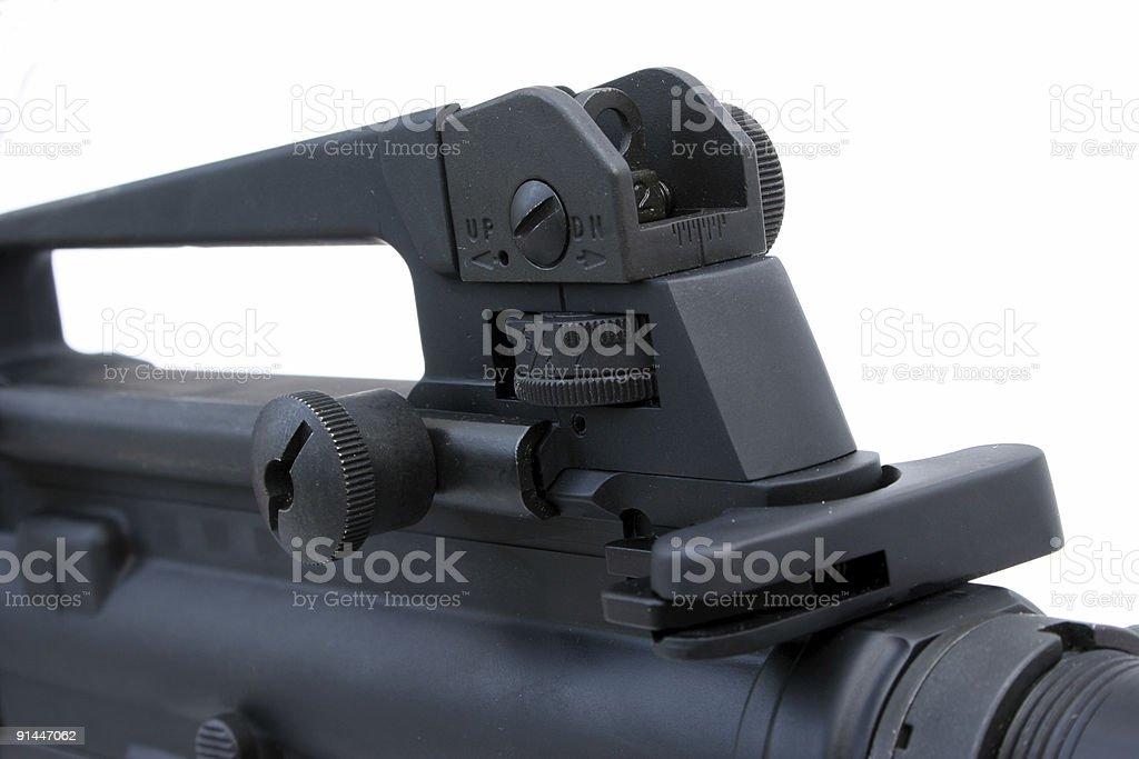 Rifle Rear Sight royalty-free stock photo