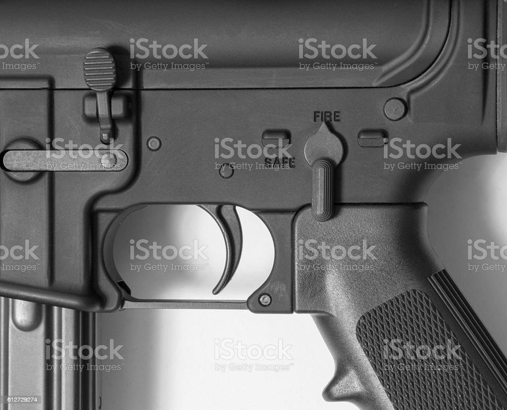Rifle Safety stock photo