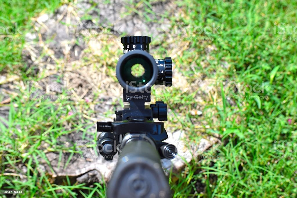 Rifle Scope stock photo