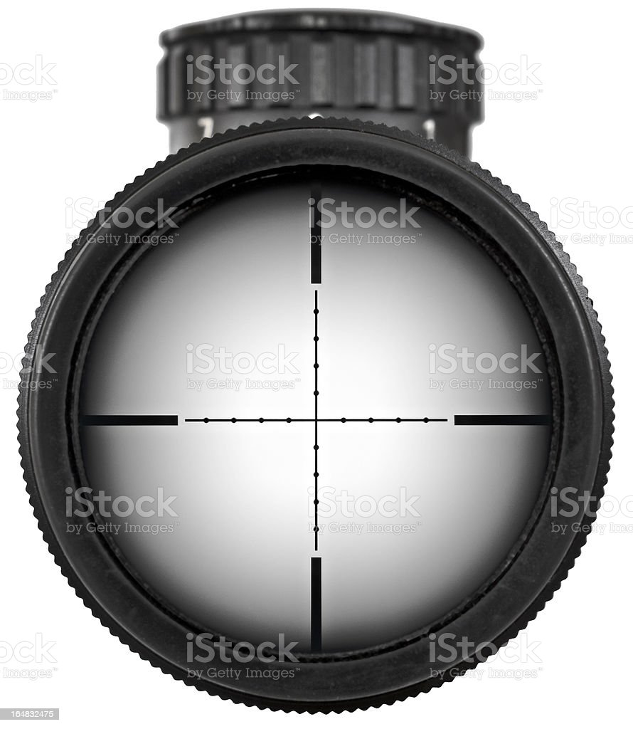 Rifle scope with clipping paths stock photo