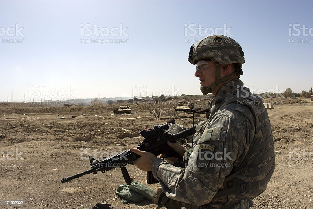 Rifle Soldier royalty-free stock photo