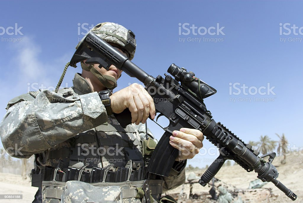 Rifle Soldier stock photo