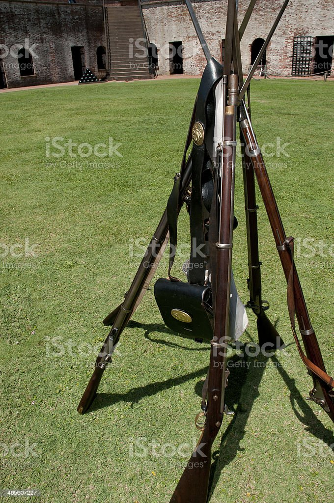 Rifle Stack royalty-free stock photo