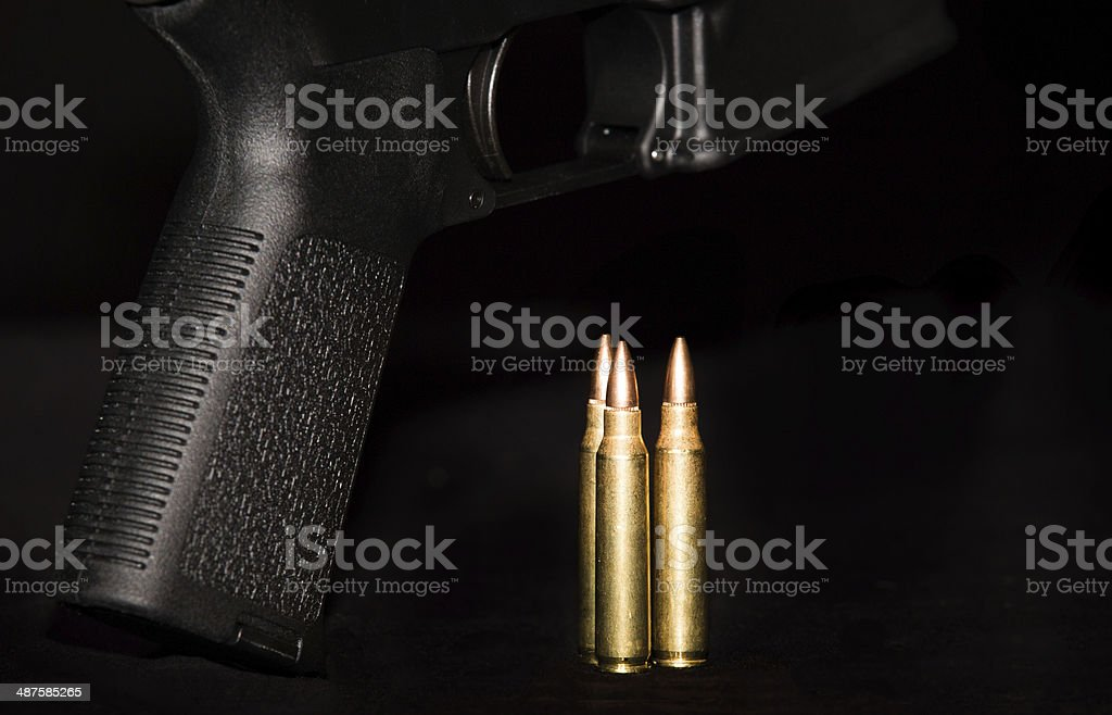 Rifle Stock and Ammo stock photo
