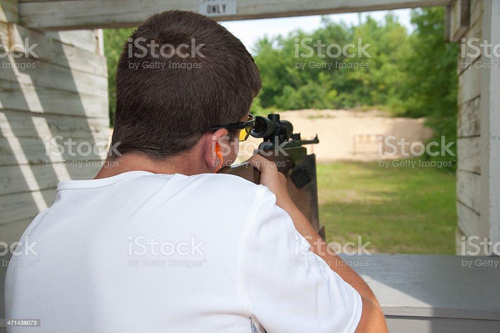 Rifle Target Practice Shooting royalty-free stock photo