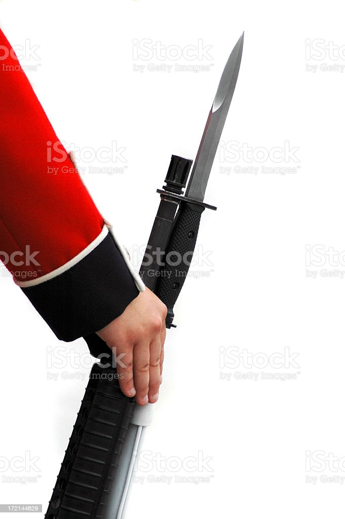 Rifle with bayonet royalty-free stock photo