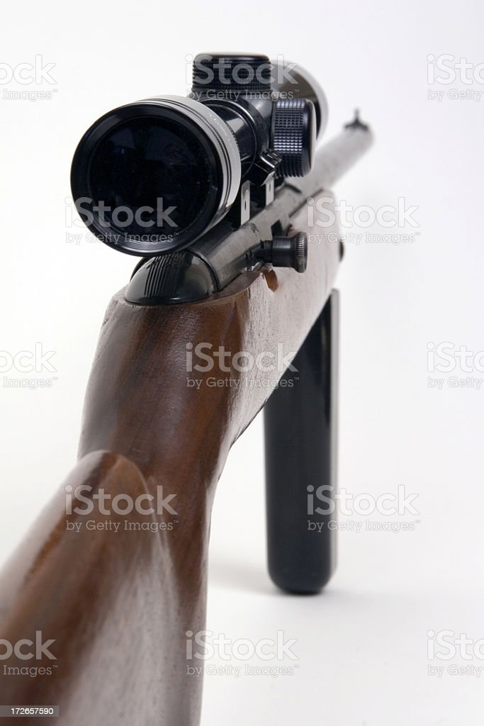 Rifle With Scope royalty-free stock photo