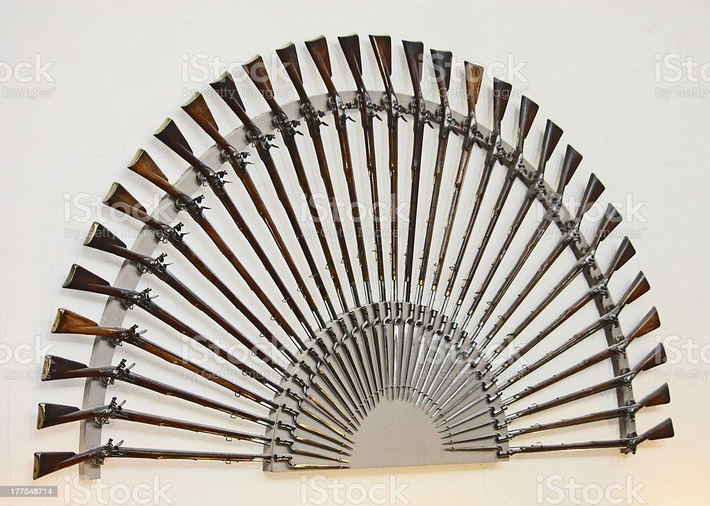 Rifles and Bayonets. royalty-free stock photo