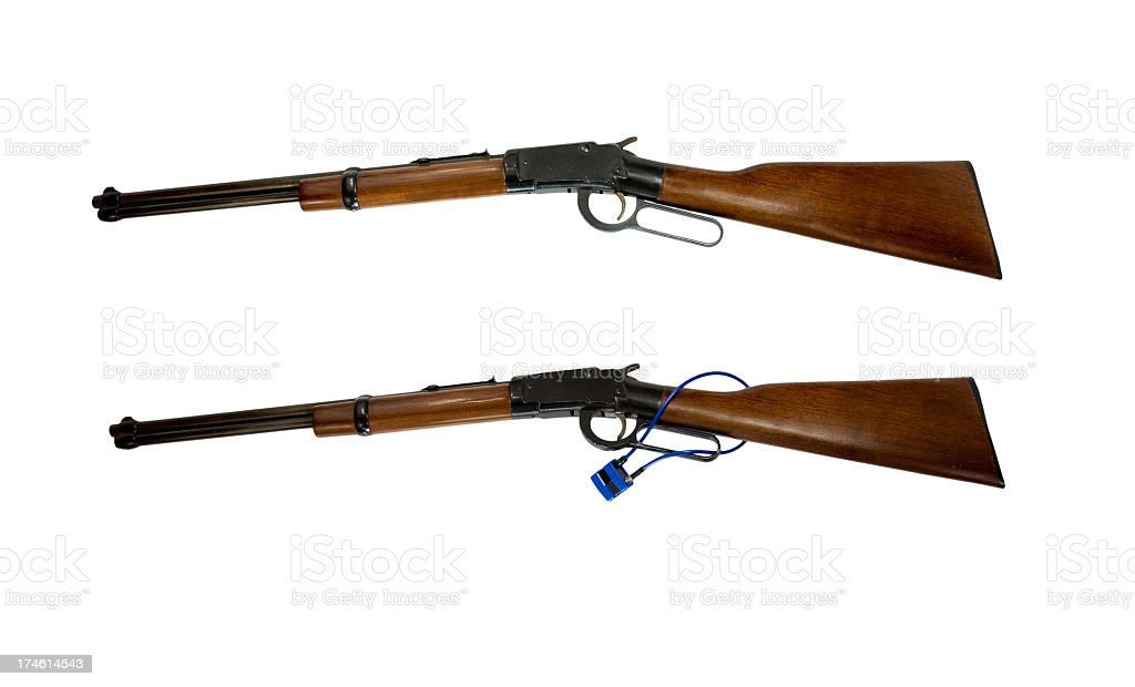 Rifles With and Without Locks royalty-free stock photo