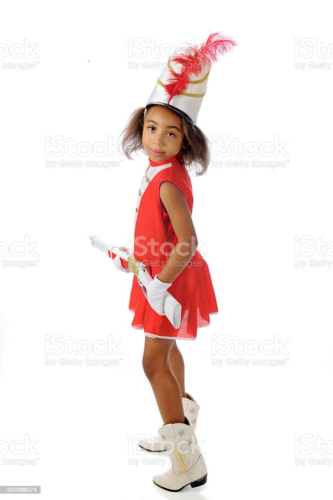 Rifle-Totting Majorette stock photo