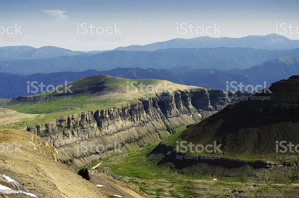 Rift in the Pyrenees royalty-free stock photo