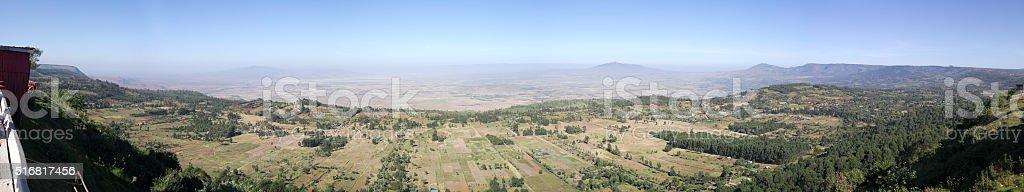 Rift Valley Panorama stock photo