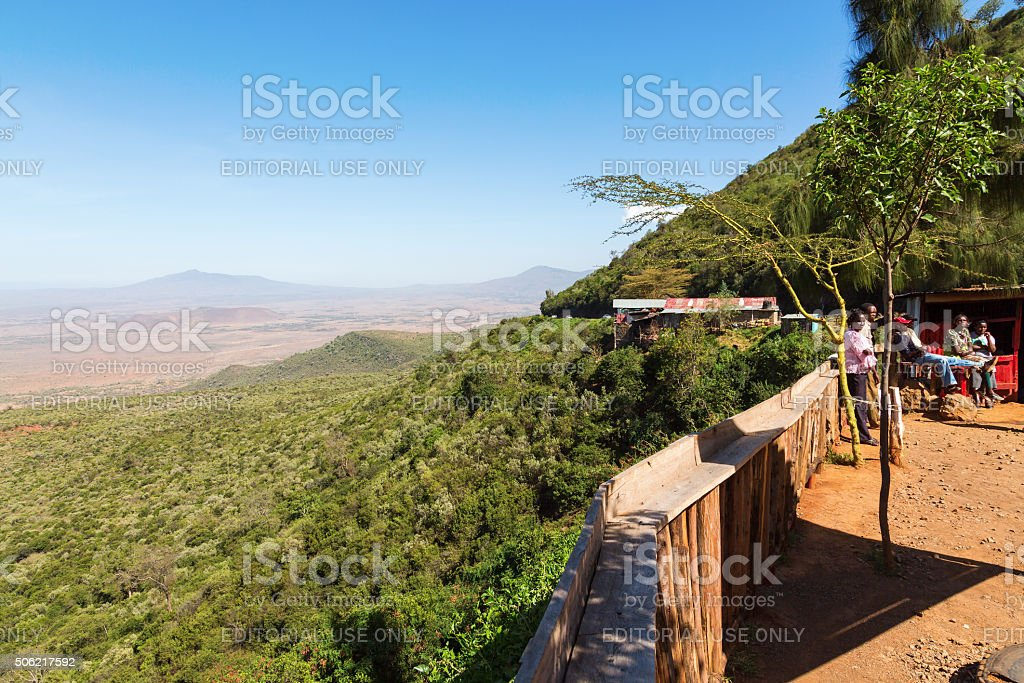 Rift Valley view stock photo