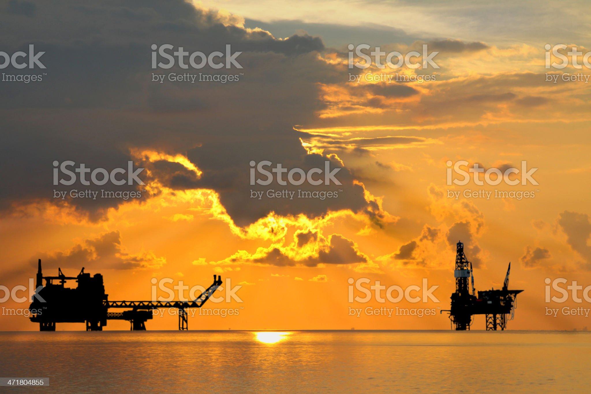 Rig and Platform royalty-free stock photo