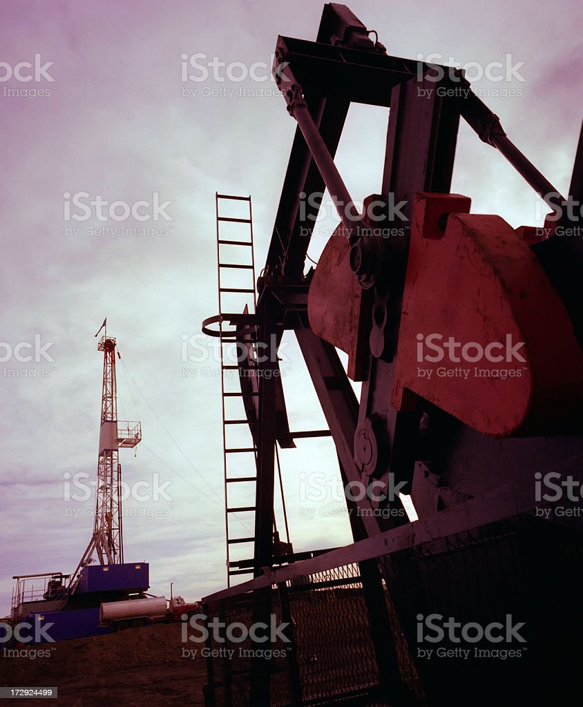 Rig and Pumpjack royalty-free stock photo