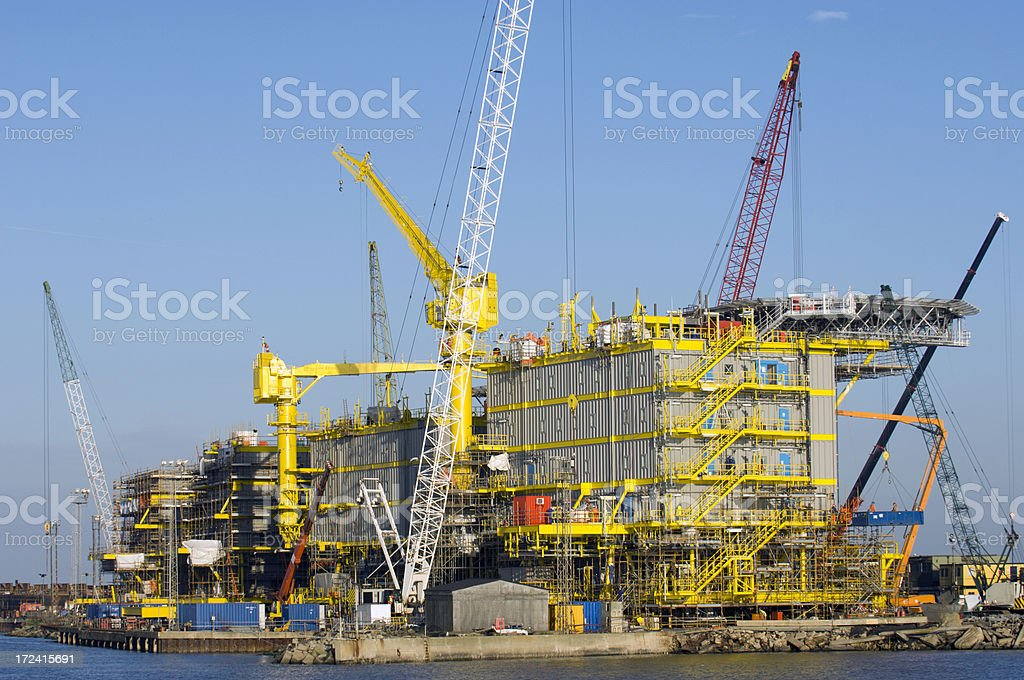 Rig Construction royalty-free stock photo