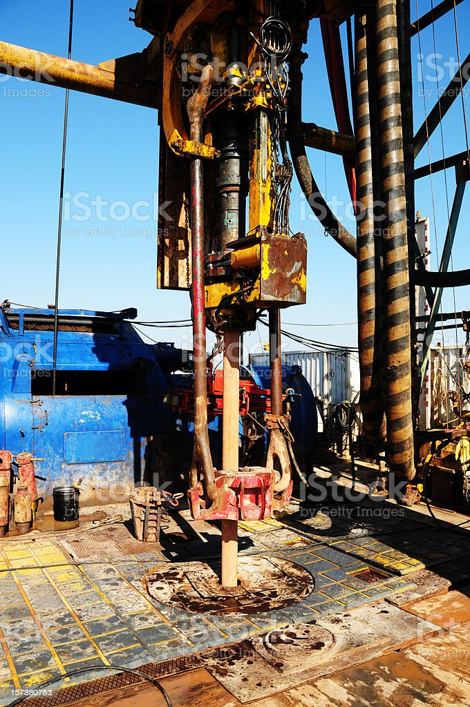 Rig floor royalty-free stock photo