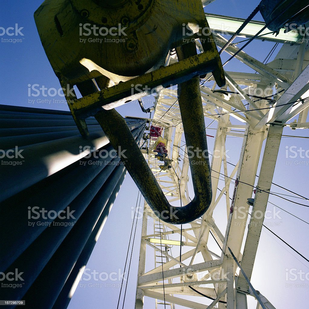 Rig Looking Up royalty-free stock photo