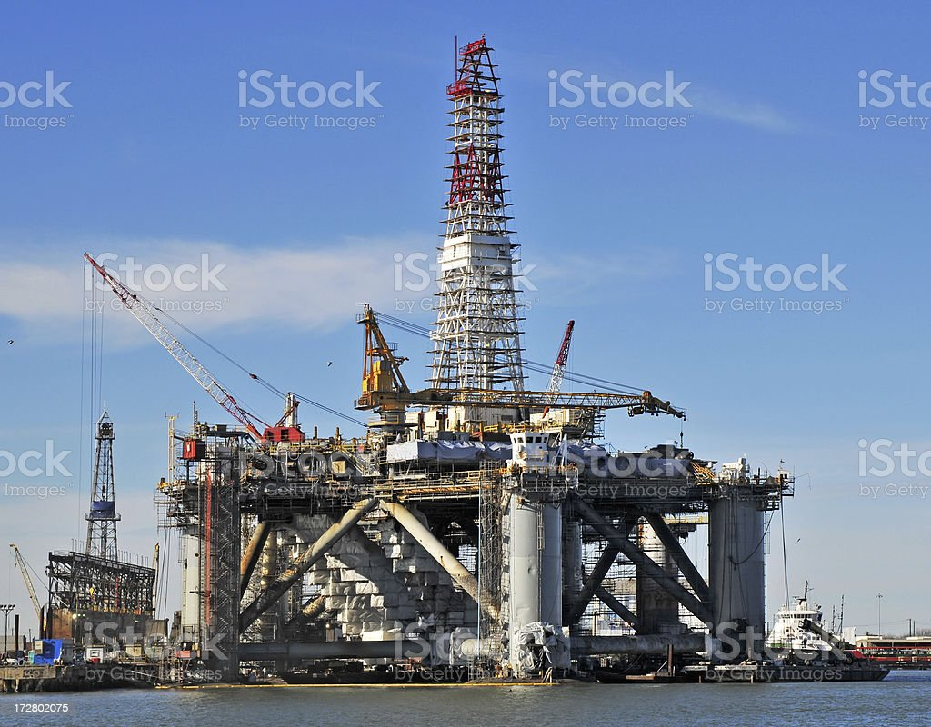 Rig Refit royalty-free stock photo