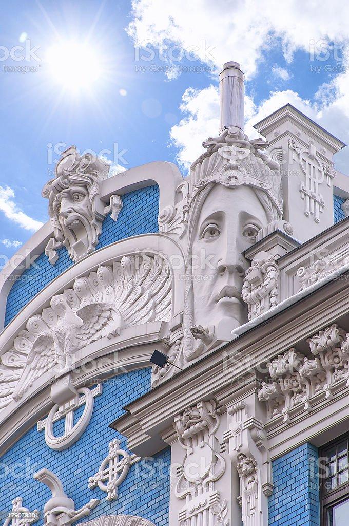Riga Art Nouveau District 01 stock photo