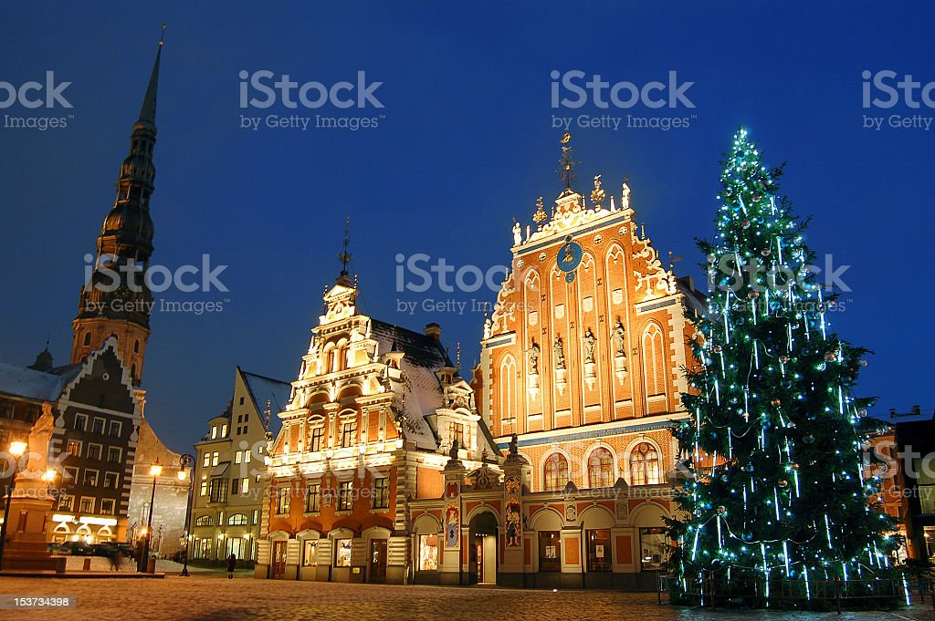 Riga before Christmas stock photo