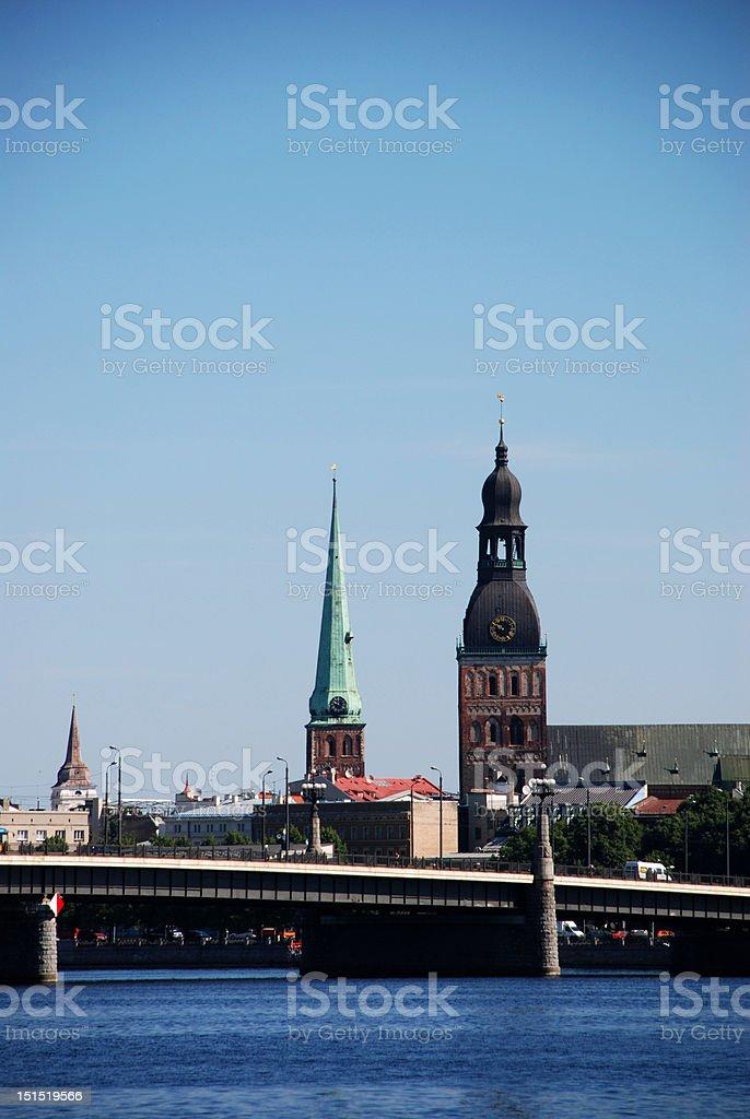 Riga - capital city of Latvia royalty-free stock photo