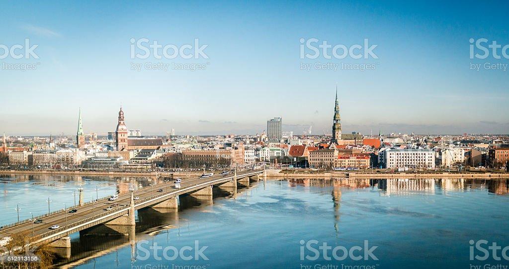 Riga cityscape in Latvia stock photo