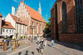 Riga Latvia. St. John's Lutheran Church, Monument Of Medieval Gothic
