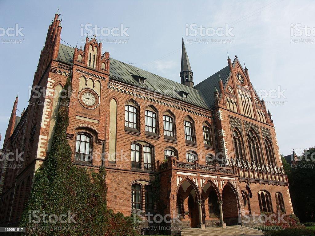 Riga (Latvia) - old city - Academy of Arts royalty-free stock photo