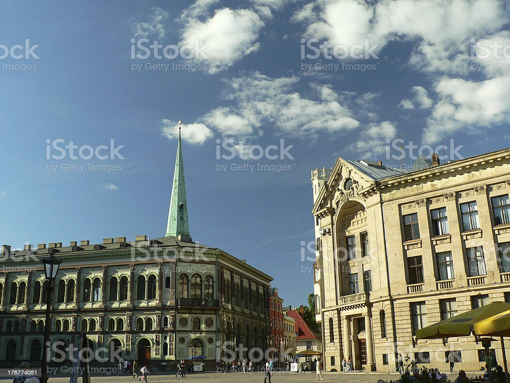 Riga oldtown royalty-free stock photo