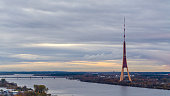 Riga Radio and TV Tower at sunset