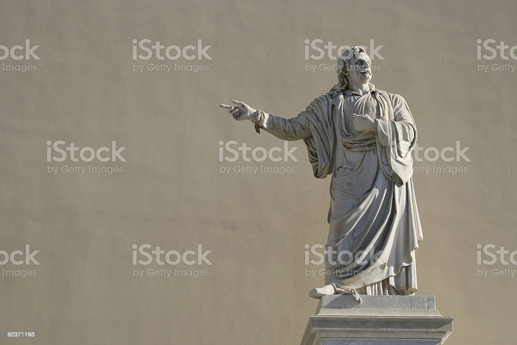 Rigas Fereos Statue in Athens Greece royalty-free stock photo