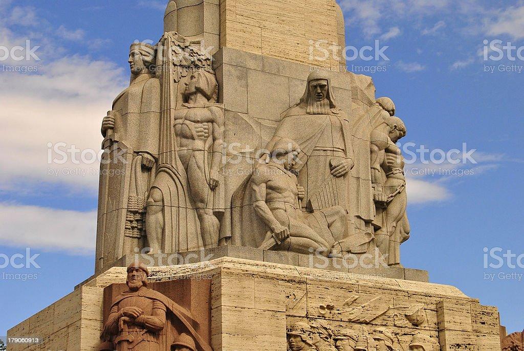 Riga's Freedom Monument. royalty-free stock photo