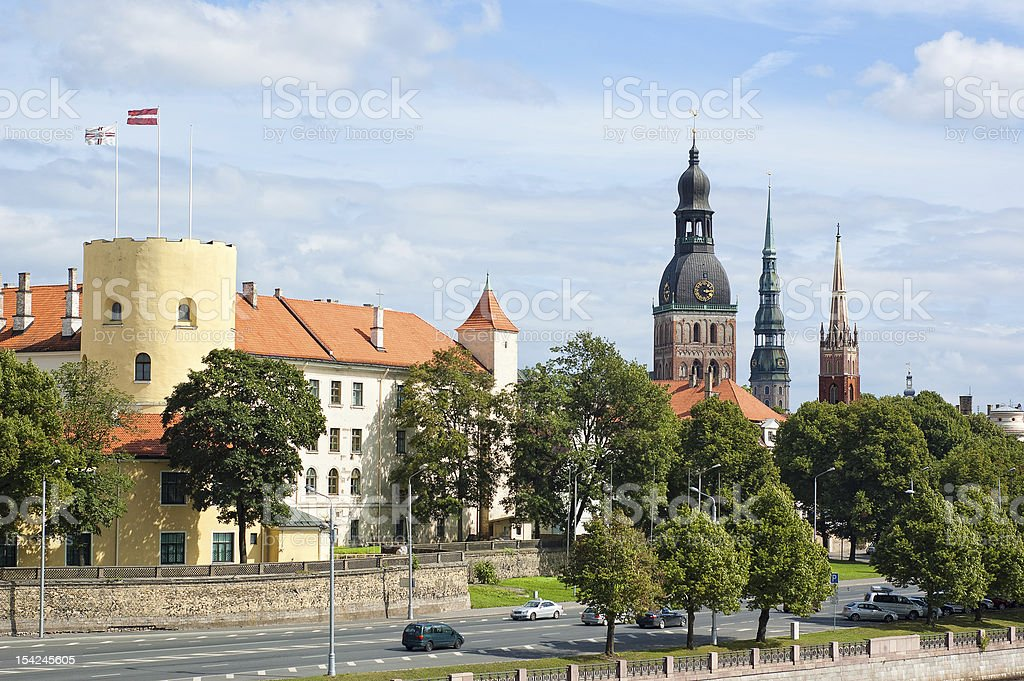 Riga's Old Town royalty-free stock photo