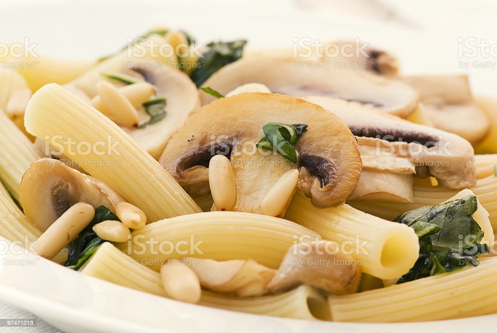 Rigatoni with Mushrooms royalty-free stock photo