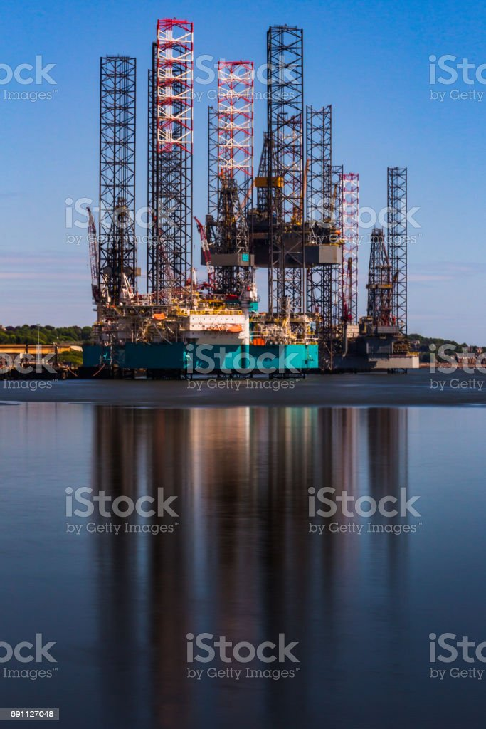 Rigging Reflections stock photo