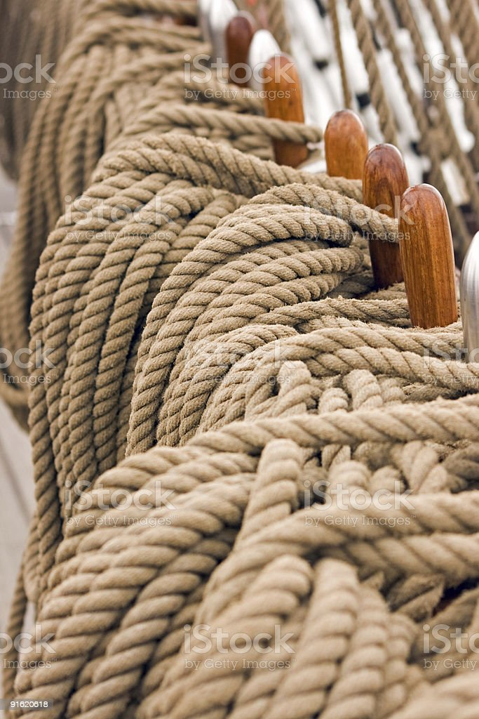 Rigging rope royalty-free stock photo