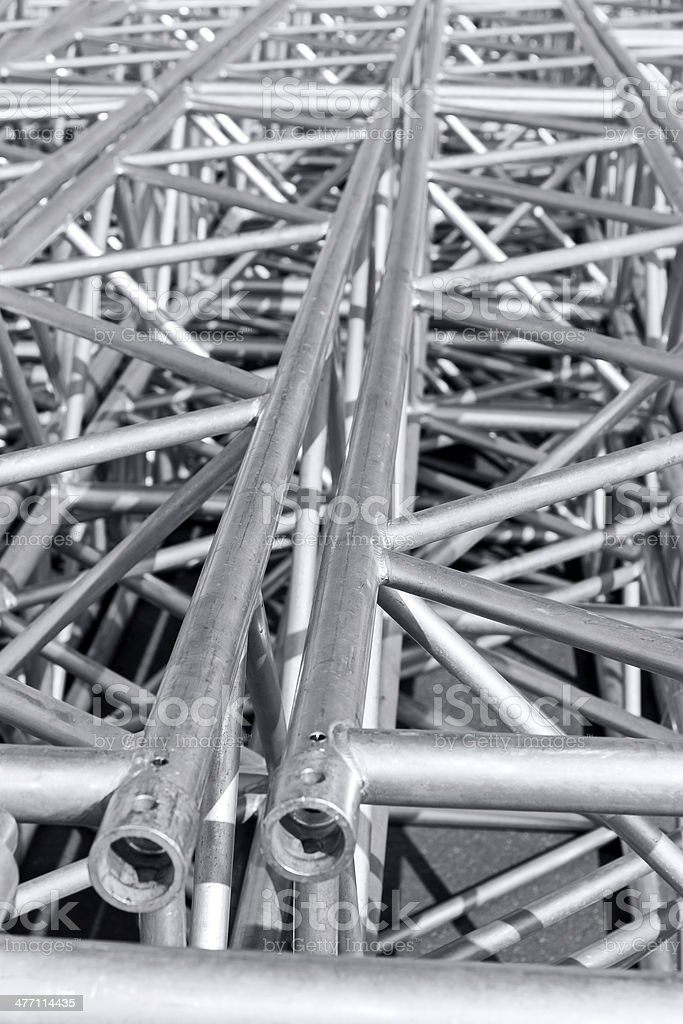 Rigging truss of stage royalty-free stock photo